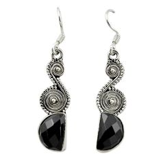 Natural black onyx 925 sterling silver dangle earrings jewelry d15995