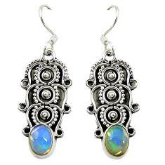 Natural multi color ethiopian opal 925 silver butterfly earrings d16464