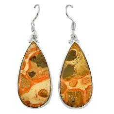 Natural red birds eye 925 sterling silver dangle earrings jewelry d6750