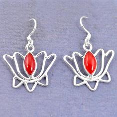 Clearance Sale- ornelian (carnelian) 925 silver dangle earrings d9459