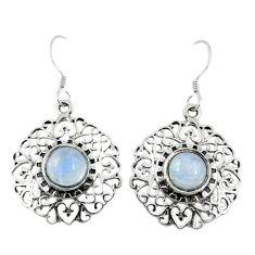 Clearance Sale- moonstone 925 sterling silver dangle earrings d9865