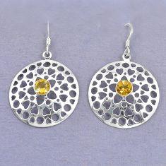 Clearance Sale- itrine 925 sterling silver dangle earrings jewelry d9930