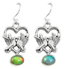 Clearance Sale- lor ethiopian opal 925 silver love birds earrings d9941
