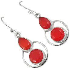 Natural honey onyx pear 925 sterling silver dangle earrings jewelry j37344