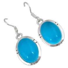 925 sterling silver blue smithsonite dangle earrings jewelry j42149
