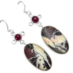 Natural bronze wild horse magnesite 925 sterling silver dangle earrings k10848