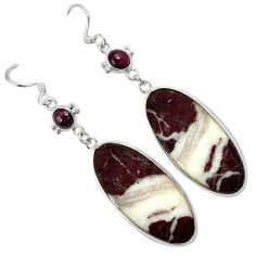 Natural bronze wild horse magnesite 925 silver dangle earrings jewelry k10856