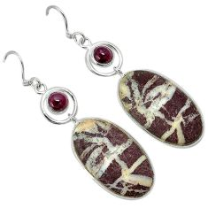 Natural bronze wild horse magnesite 925 silver dangle earrings jewelry k10858