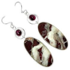 Natural bronze wild horse magnesite 925 silver dangle earrings jewelry k10859