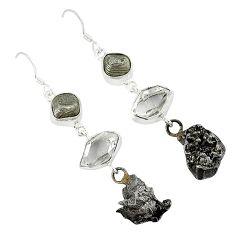 Meteorite 925 sterling silver campo del cielo earrings jewelry k23470