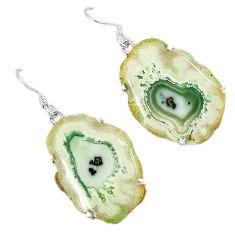 925 sterling silver natural white solar eye fancy dangle earrings k23938