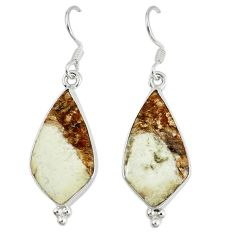 925 silver natural white wild horse magnesite dangle earrings jewelry k42090