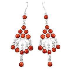 Natural brown goldstone 925 sterling silver earrings jewelry k73325