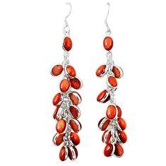925 sterling silver natural brown goldstone earrings jewelry k73326