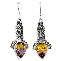 Multi color ametrine (lab) 925 sterling silver dangle earrings jewelry k80027