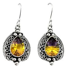 Multi color ametrine (lab) 925 sterling silver dangle earrings jewelry k80034