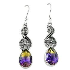 925 sterling silver multi color ametrine (lab) dangle earrings jewelry k80044