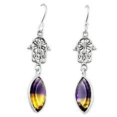 Clearance-Multi color ametrine (lab) 925 sterling silver dangle earrings k80056