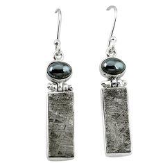 925 sterling silver natural grey meteorite hematite earrings jewelry k80245