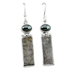 925 sterling silver natural grey meteorite hematite earrings jewelry k80250