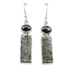 925 sterling silver natural grey meteorite hematite earrings jewelry k80255