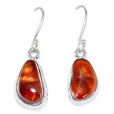 Natural multi color mexican fire agate 925 silver earrings jewelry k87425