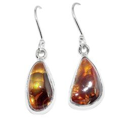 Natural multi color mexican fire agate 925 silver earrings jewelry k87430