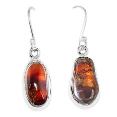 Natural multi color mexican fire agate 925 sterling silver earrings k87432