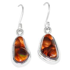 Natural multi color mexican fire agate 925 silver earrings jewelry k87433