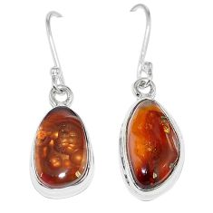 925 silver natural multi color mexican fire agate earrings jewelry k87435