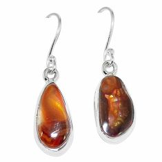 Natural multi color mexican fire agate 925 silver earrings jewelry k87436