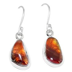 925 sterling silver natural multi color mexican fire agate earrings k87437