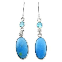 925 sterling silver natural blue angelite topaz dangle earrings jewelry m20291