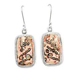 925 silver natural brown leopard skin jasper dangle earrings jewelry m36584