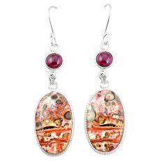 925 silver natural brown leopard skin jasper dangle earrings jewelry m39289