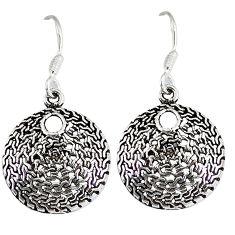Indonesian bali java island 925 sterling solid silver dangle earrings p1447