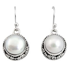 925 sterling silver 10.54cts natural white pearl dangle earrings jewelry r10207
