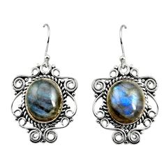 925 sterling silver 11.54cts natural blue labradorite dangle earrings r11100
