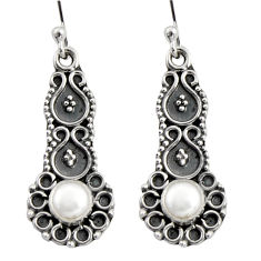 925 sterling silver 1.99cts natural white pearl dangle earrings jewelry r11131