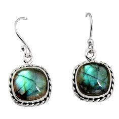 10.32cts natural blue labradorite 925 sterling silver dangle earrings r11161