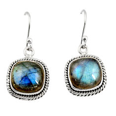925 sterling silver 11.13cts natural blue labradorite dangle earrings r11163
