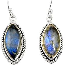 14.45cts natural blue labradorite 925 sterling silver dangle earrings r11168