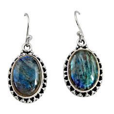 925 sterling silver 11.27cts natural blue labradorite dangle earrings r11192