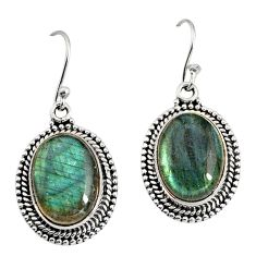 12.40cts natural blue labradorite 925 sterling silver dangle earrings r11198