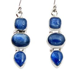 925 sterling silver 12.40cts natural blue kyanite dangle earrings jewelry r12240