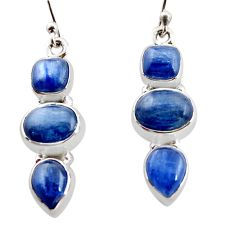 925 sterling silver 12.40cts natural blue kyanite earrings jewelry r12296
