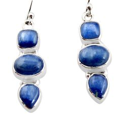 12.40cts natural blue kyanite 925 sterling silver earrings jewelry r12297