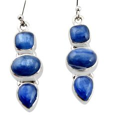 12.04cts natural blue kyanite 925 sterling silver earrings jewelry r12298