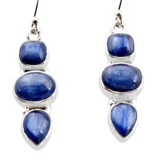 12.04cts natural blue kyanite 925 sterling silver earrings jewelry r12300