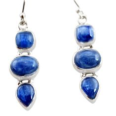 925 sterling silver 12.40cts natural blue kyanite earrings jewelry r12316